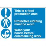 Multiple safety sign - This Is A Food 039
